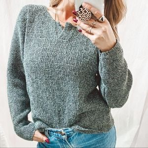 A Knitch Above 100% Cotton Textured Sweater